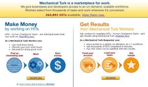 Home page d'amazon mechanical turk